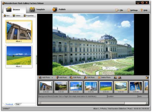 ดาวน์โหลดโปรแกรม Flash Gallery Factory