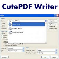CutePDF Writer (โปรแกรมเขียน PDF) :