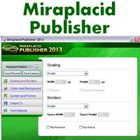 Miraplacid Publisher (โปรแกรมแปลงไฟล์เอกสารเป็นรูปภาพ)