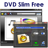DVD Slim Free (โปรแกรม ทำปก CD ทำปก DVD พิมพ์ปก CD DVD ฟรี)