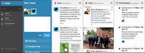 โปรแกรมเล่นทวิตเตอร์ในคอม TweetDeck