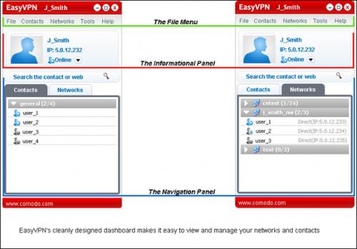 โปรแกรม Comodo EasyVPN