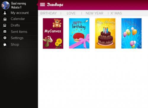 App ทำการ์ดวันเกิด Happy Birthday Greetings