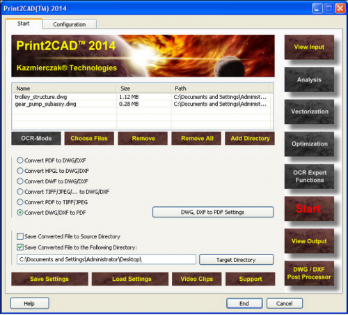Print2CAD (โปรแกรม Print2CAD แปลง PDF เป็น DWG) :