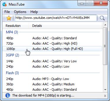 MassTube (โปรแกรม MassTube โหลดคลิป โหลดวีดีโอจากเว็บต่างๆ) :