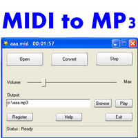 MIDI to MP3 Maker (โปรแกรมแปลงไฟล์ MIDI เป็น MP3) :