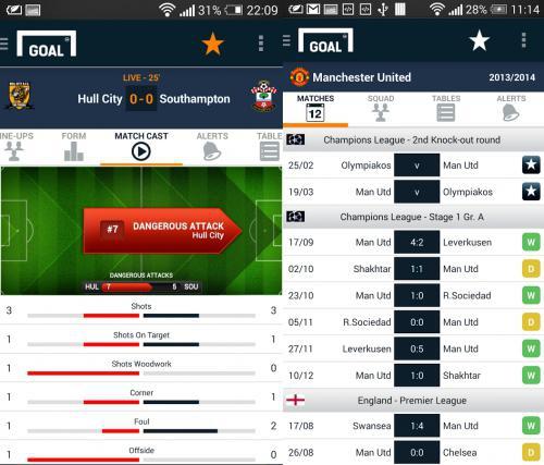 โหลดแอป Goal Live Scores