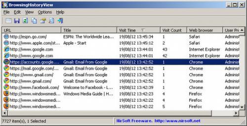 โปรแกรมดูประวัติเข้าเว็บ IE Firefox Chrome