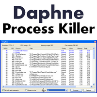 Daphne Process Killer (โปรแกรมจัดการโปรเซส กำจัดโปรเซส) :