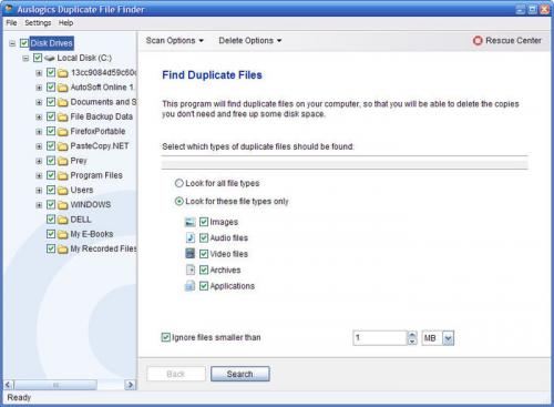 โปรแกรมค้นหาไฟล์ซ้ำ Auslogics Duplicate File Finder