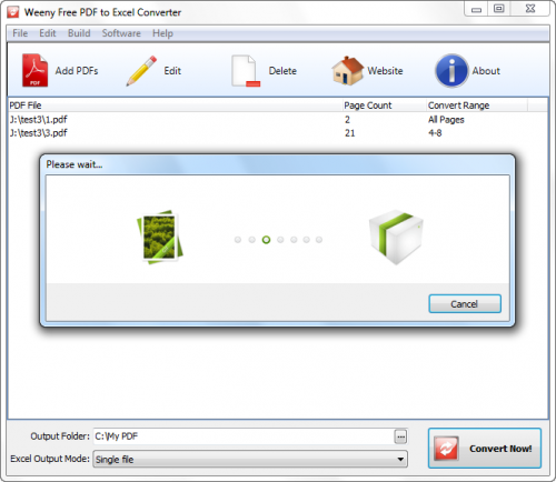 Weeny Free PDF to Excel Converter :