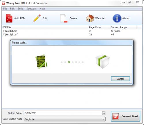 โปรแกรม PDF to Excel Converter
