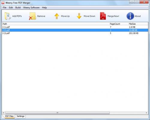 Weeny Free PDF Merger