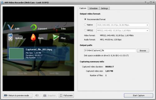 โปรแกรม AVS Video Recorder