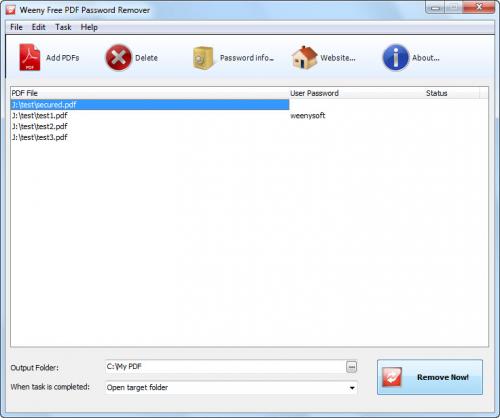 Weeny PDF Password Remover
