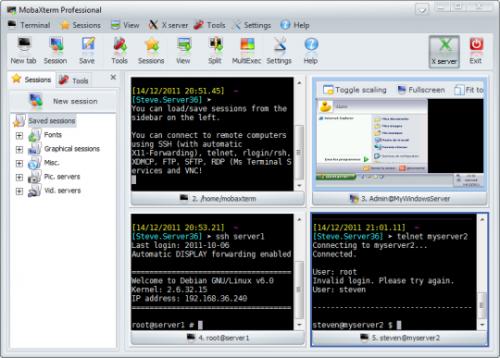 โปรแกรมรีโมทคอมพิวเตอร์ MobaXterm