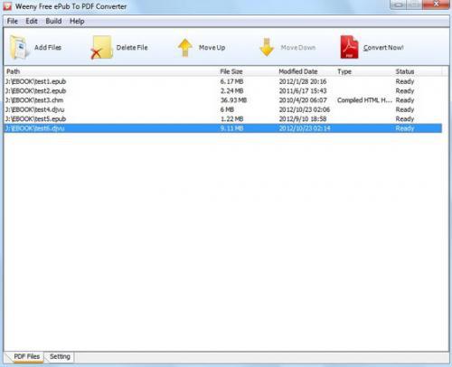 โปรแกรมแปลงไฟล์ Free ePub to PDF Converter