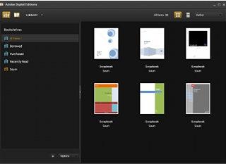 โปรแกรม Adobe Digital Editions