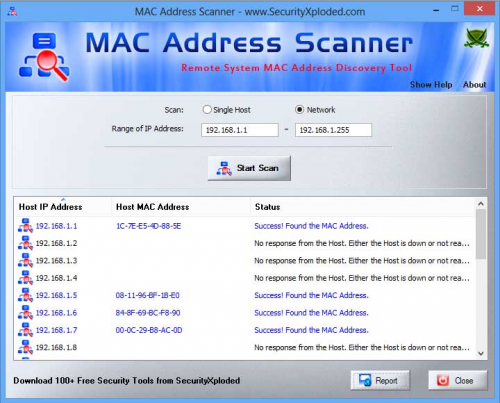 MAC Address Scan