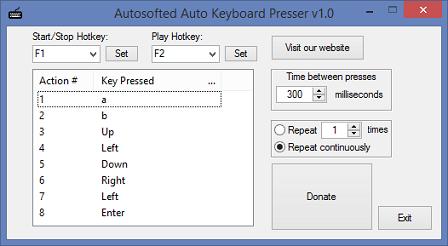 โปรแกรมออโต้คัย์บอร์ด Auto Keyboard Presser