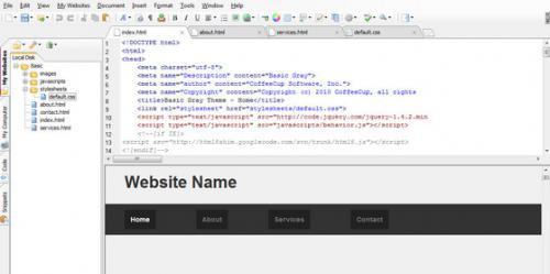 CoffeeCup Free HTML Editor (โปรแกรมทำเว็บ เขียนเว็บไซต์ ภาษา HTML และ CSS) :