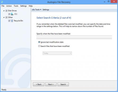 โปรแกรมกู้ข้อมูล Auslogics File Recovery