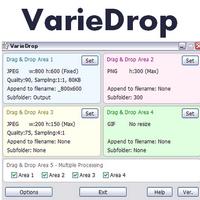 VarieDrop (โปรแกรม VarieDrop โปรแกรมย่อไฟล์ภาพ)