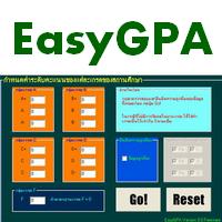 EasyGPA (โปรแกรม EasyGPA คำนวณหา GPA ระดับมหาวิทยาลัย)