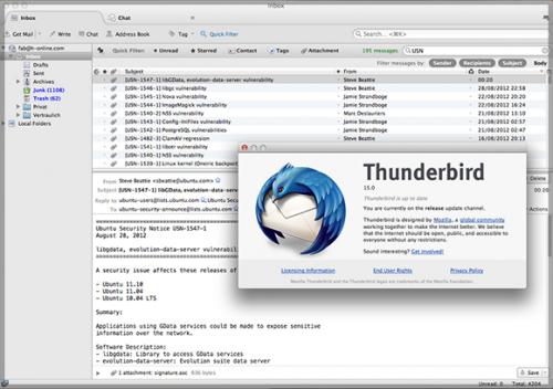โปรแกรมจัดการเมล์ Thunderbird