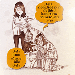 Font KRR Aengaei (ฟอนต์ KRR Aengaei ฟอนต์แบบการ์ตูน) :