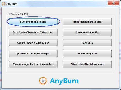โปรแกรมไรท์แผ่น AnyBurn Free