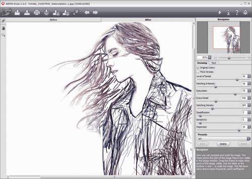 AKVIS Draw (โปรแกรม Draw เปลี่ยนรูปเป็นรูปวาด รูปสเก็ต) :