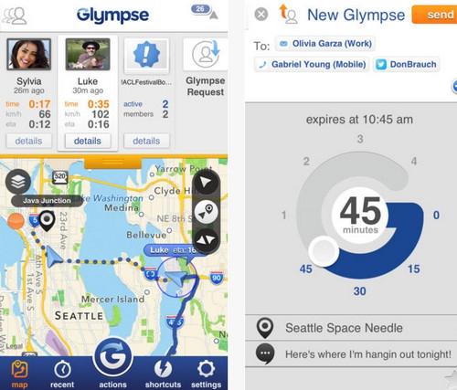 App แผนที่ Glympse