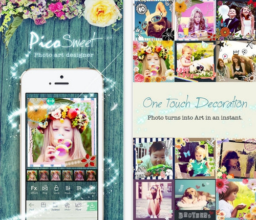 App แต่งภาพสไตล์สาวหวาน Pico Sweet