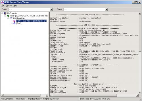 โปรแกรมดูอุปกรณ์ยูเอสบี USB Device Tree Viewer