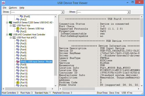 โปรแกรม USB Device Tree Viewer