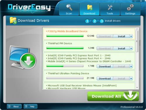 โปรแกรมอัพเดทไดร์เวอร์ DriverEasy