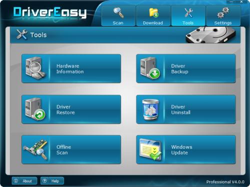 โปรแกรมค้นหาไดร์เวอร์ DriverEasy
