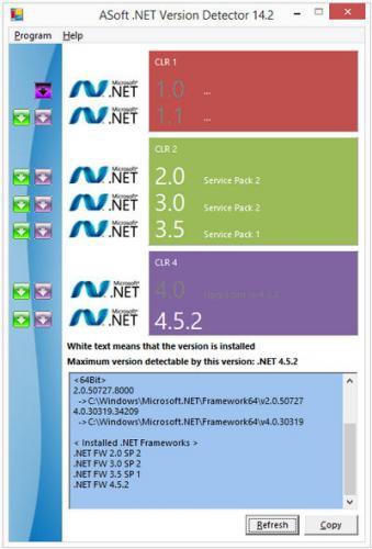 โหลดโปรแกรม .NET Version Detector