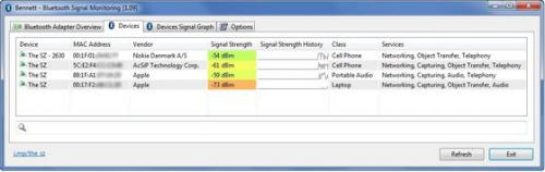Bennett Bluetooth Monitor (โปรแกรมดูสัญญาณบลูทูธ รอบข้างฟรี) :