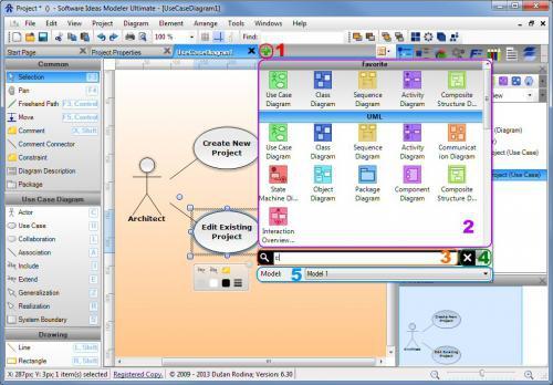 โปรแกรมวาดแผนภูมิไดอะแกรมSoftware Ideas Modeler Standard