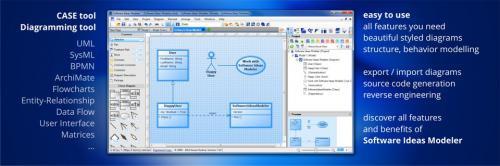 โปรแกรมวาดไดอะแกรม Software Ideas Modeler