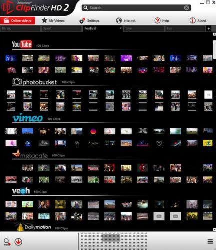 โปรแกรมหาคลิปวีดีโอ Ashampoo ClipFinder HD