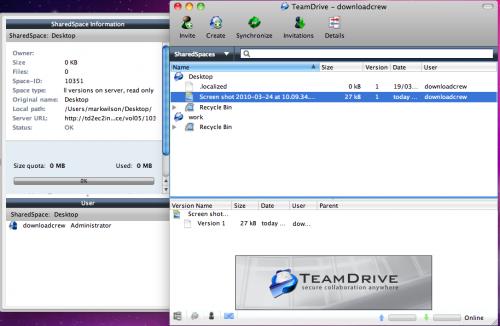 โปรแกรมซิงค์ข้อมูล แชร์ไฟล์ TeamDrive