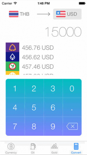 App เช็คอัตราแลกเปลี่ยนเงิน Thai Exchange