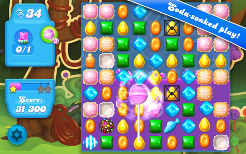 App เกมส์ Candy Crush Soda Saga