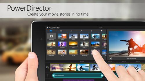 App ตัดต่่อวีดีโอ PowerDirector