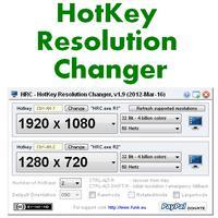 HotKey Resolution Changer (โปรแกรม HotKey เปลี่ยนความละเอียดจอ)