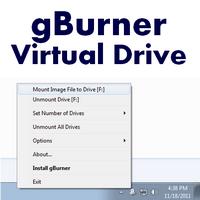gBurner Virtual Drive (สร้างไดร์ฟจำลอง สูงสุด 16 ไดร์ฟ)