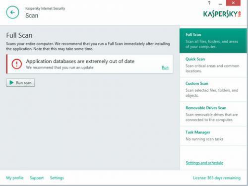 โปรแกรม Kaspersky Internet Security
